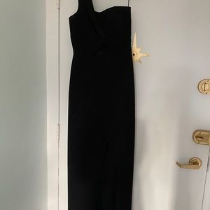 BCBG Maxazria One Shoulder Gown